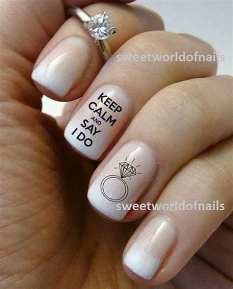 I Do Nail by Wedding Nail Water Decals Water Transfers I Do Nails