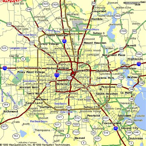 houston area code map maps