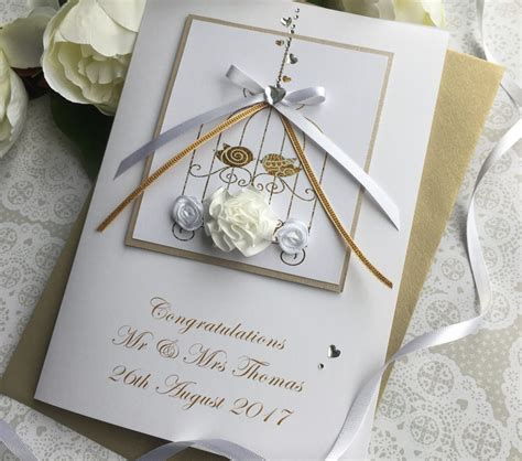 Handmade Cards Uk - luxury wedding card handmade cardspink posh