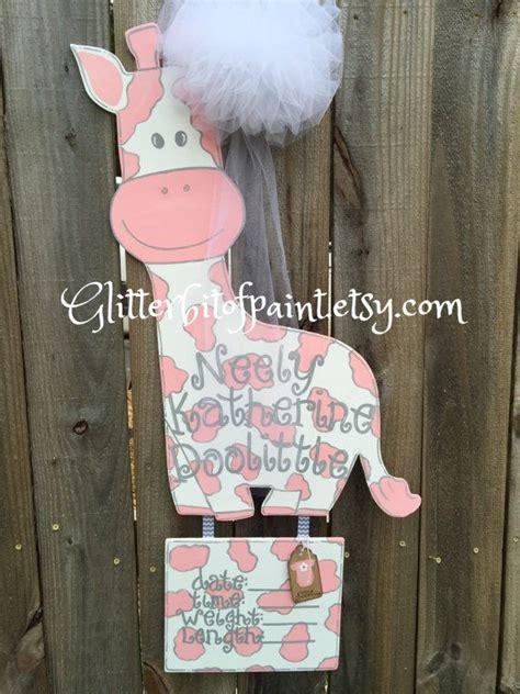 Hospital Door Hangers For Baby by Hospital Door Hanger With Birth Announcement Plaque And
