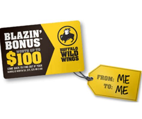 Buffalo Wild Wings Gift Card Amount - free gift cards from buffalo wild wings blazin bonus promo shareyourfreebies