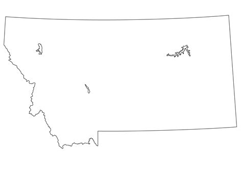 Montana Map Outline by Free Outline Montana Coloring Pages