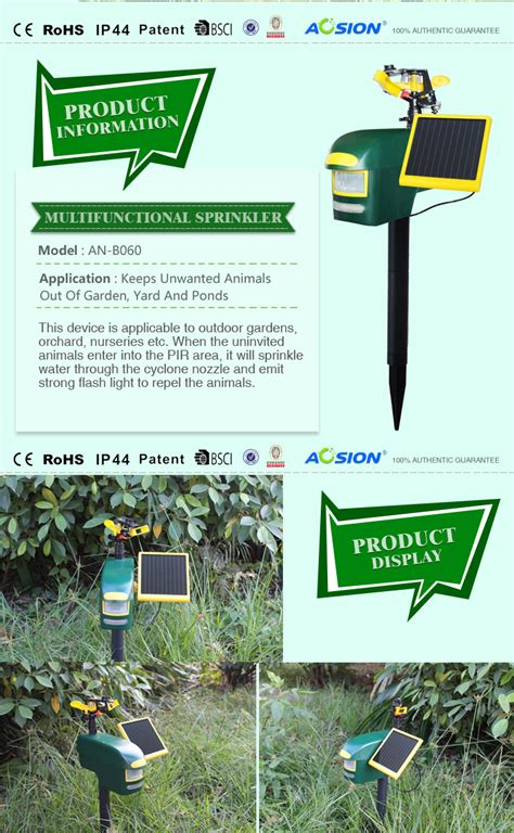 home automation definition solar sprinkler animal repeller