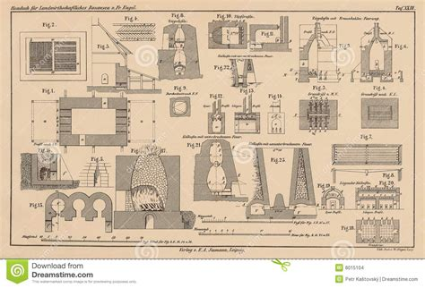 technical drawing house plans 142 years old technical drawing stock images image 8015104