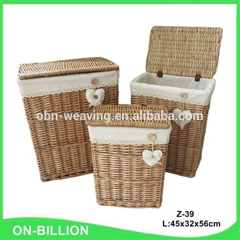 decorative corner wicker laundry her with lid buy
