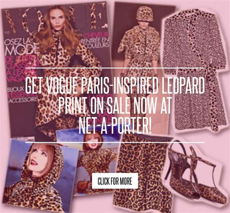 Net A Porter Mid Season Sale by Get Vogue Inspired Leopard Print On Sale Now At Net