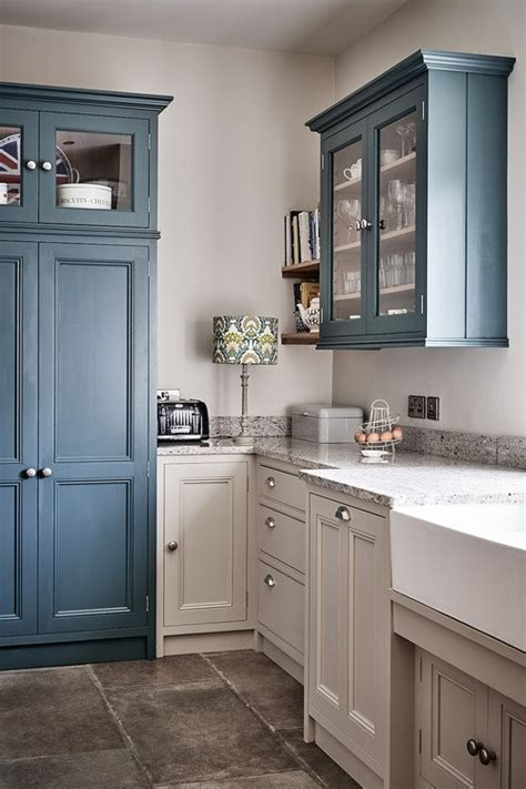 country blue farmhouse kitchen town country living