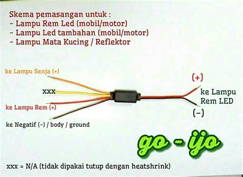 jual modul otomatis dc untuk pemasangan lu led motor jual modul strobo dan statis drl lu rem lu mata