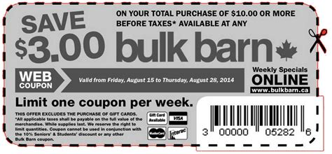 Barn Coupon bulk barn printable coupons save 3 your total purchase of 10 this week s bulk barn flyer
