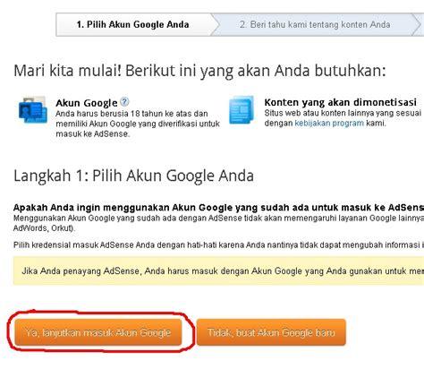 membuat akun dari google cara membuat akun google adsense dari blogspot ilham