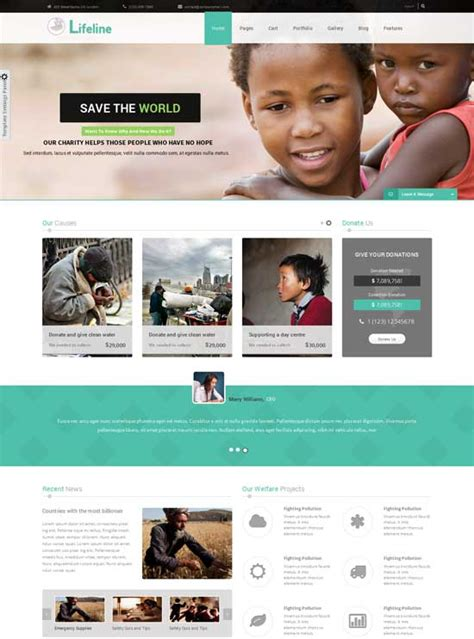 ngo newsletter templates top 12 responsive ngo charity church joomla templates