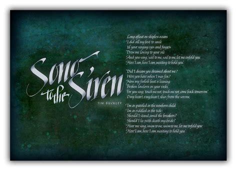 The Siren Song siren song original lyrics