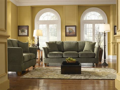 green sofa living room with apartment couches