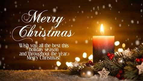 merry christmas greeting video candle light template postermywall