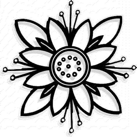 coloring pages of different types of flowers flower coloring pages coloringsuite com