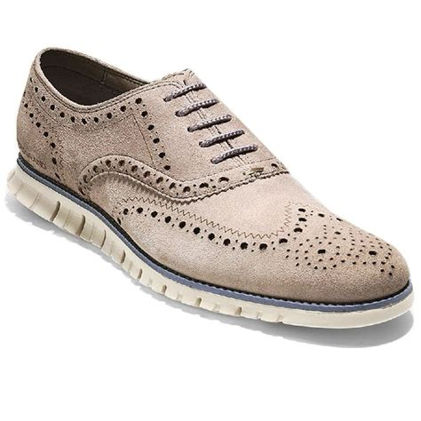 cole haan wingtip oxford shoes cole haan zerogrand wingtip oxford mens shoes for lyst