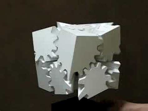 How To Make A Paper Moving Cube - 歯車の立方体 gears cube