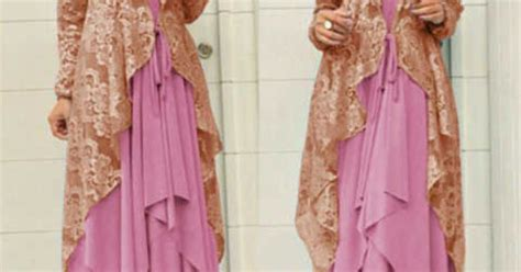 Cardigan Brokat Gamis Brokat Modern Models Pink And Cardigans