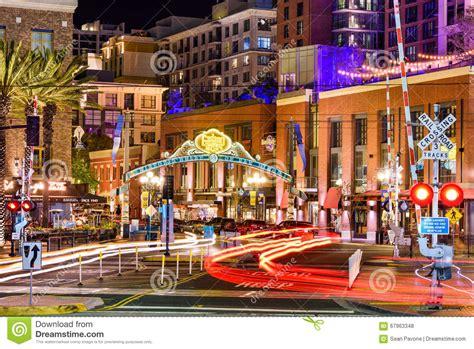 l district san diego gasl district of san diego editorial stock photo