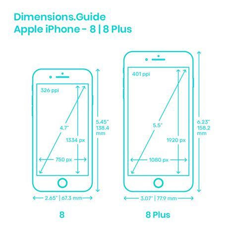 apple iphone 8 8 plus dimensions drawings dimensions guide