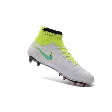 soccer shoes for nike soccer cleats 2016 mens nike magista obra fg white volt green