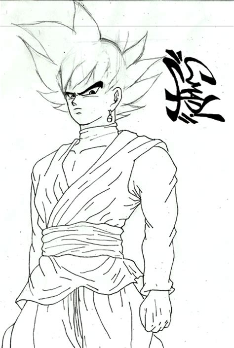 imagenes de goku black para colorear dibujando a goku black anime amino