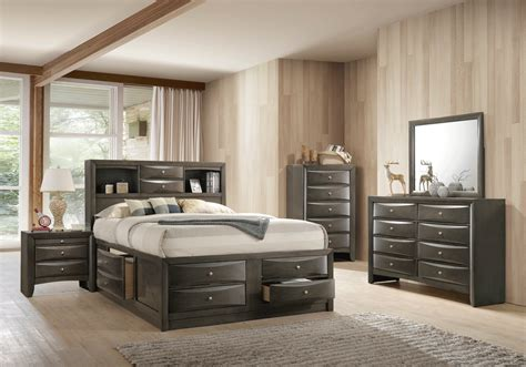 Grey King Bedroom Set by Emily Grey King Storage Bed Louisville Overstock Warehouse