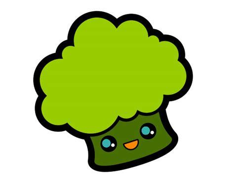 imagenes de comida saludable kawaii desenho de brocolis da aninha pintado e colorido por