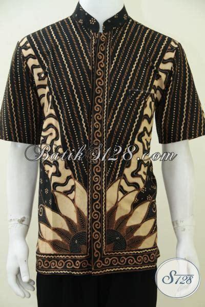 Kemeja Batik Pria Kerah Sanghai kemeja batik pria model koko baju batik lebaran krah shanghai trendy dan gaul size l baju