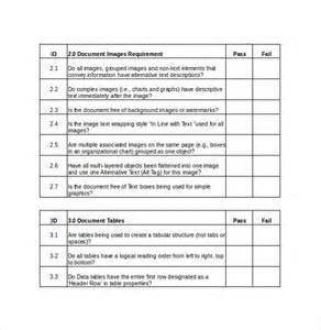 Checklist Template For Word by Sle Word Checklist 6 Documents In Word Pdf