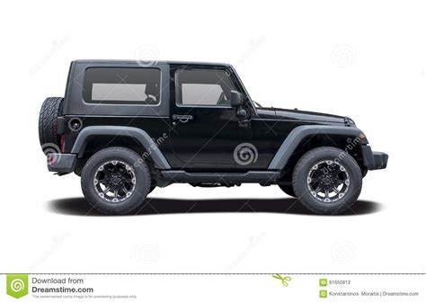 jeep side view jeep wrangler sport stock photo image 61650813