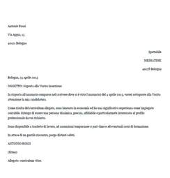 Curriculum Vitae In Italiano by Esempio Di Lettera Di Presentazione In Risposta Ad Un