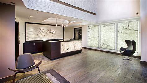 illuminated reception desk architectural lighting trend backlit reception areas