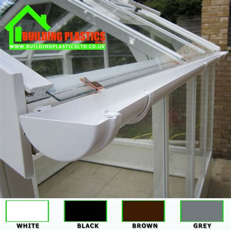mini small guttering and fitting grey for shed porches