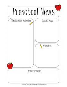 the crafty preschool newsletter template