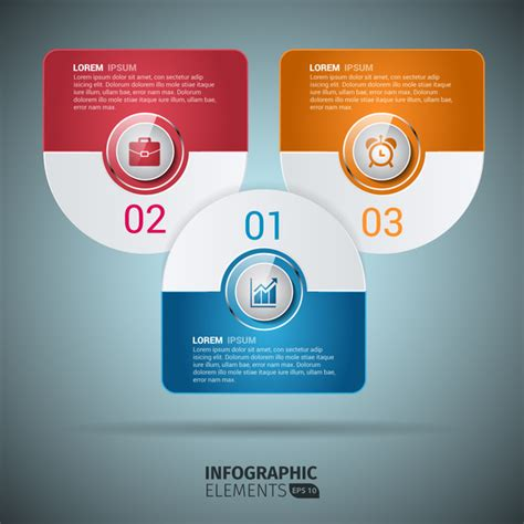 adobe illustrator infographic templates infographic rounded design elements template free vector