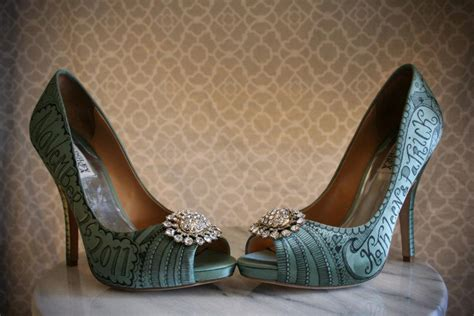 teal wedding shoes satin teal badgley mischka wedding shoes with