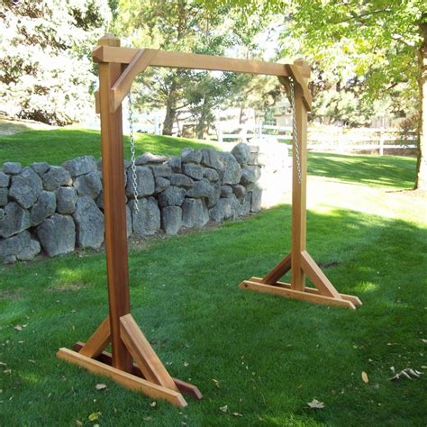 wooden swing frames wood country red cedar outdoor swing frame