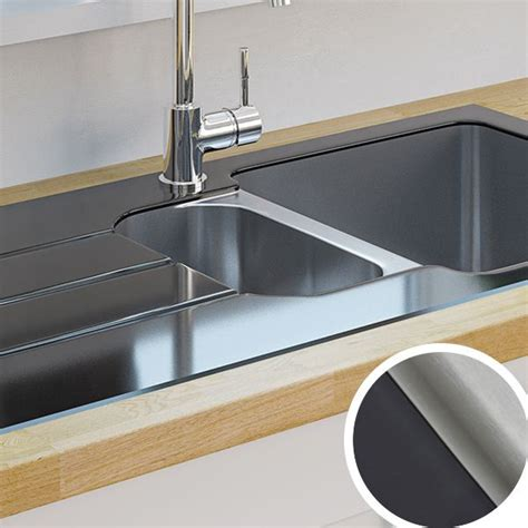 glass kitchen sink kitchen sinks metal ceramic kitchen sinks diy at b q