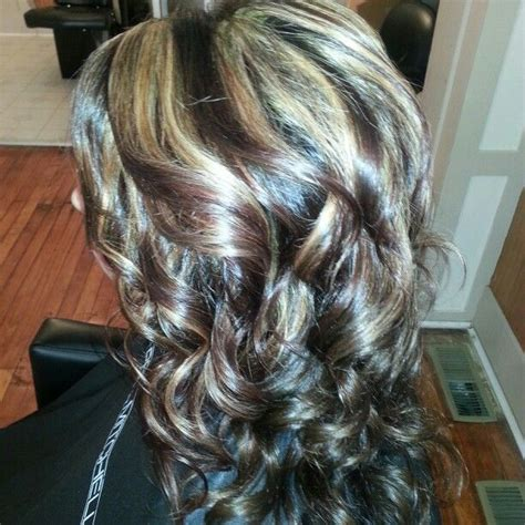 curly hair with lowlights highlights lowlights curly hair hair pinterest
