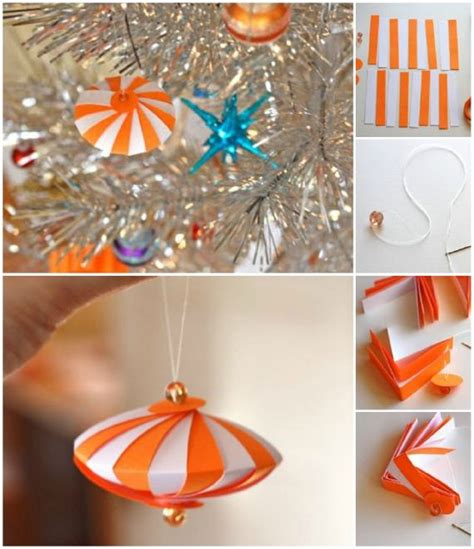 diy christmas ornaments made from paper