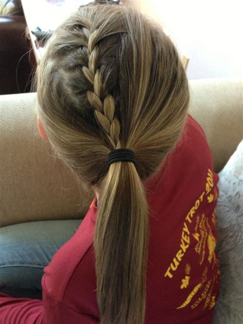hair braided into pony tail braid into a ponytail hair pinterest