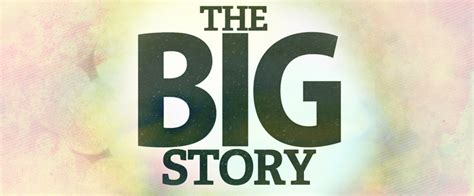 The Big Story the big story sermon series artwork and motion graphics bump