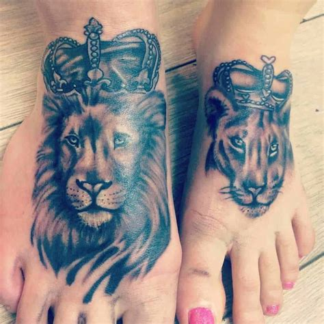 lion and lioness tattoo 101 lioness ideas designs authoritytattoo