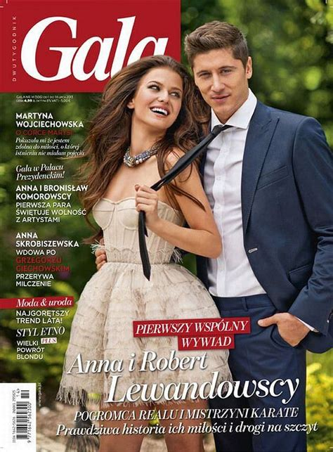 anna lewandowska i robert lewandowski wywiad pierwsza wsp 243 lna okładka anna i robert lewandowscy pozują