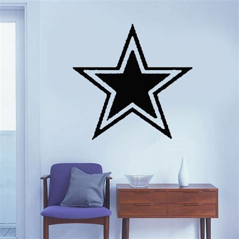 dallas cowboys home decor dallas cowboys star wall stickers kids rooms murals quotes