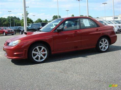 red subaru sedan garnet red pearl 2007 subaru impreza wrx sedan exterior