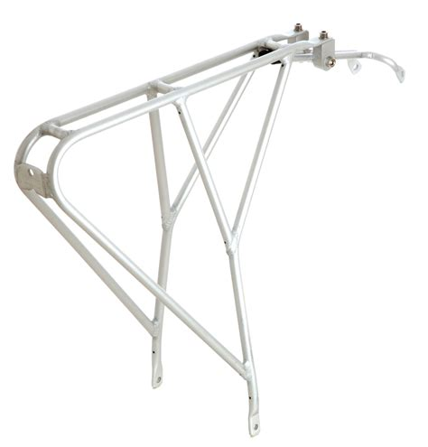 Bicycle Rear Rack by Tortec Velocity Rear Rack Silver Bicycle Workshop