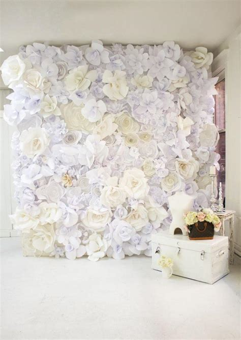 How To Make A Paper Flower Wall - diy wedding crafts paper flower wall backdrop diy