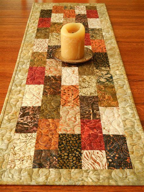 table runner batik quilted batik table runner in tonga spice from susiquilts